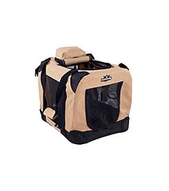 Petmaker Khaki Portable Soft Sided Pet Crate