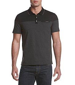 Calvin Klein Men's Short Sleeve Feeder Polo
