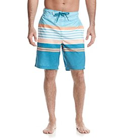 Le Tigre Men's Printed Stripe Swim Trunks