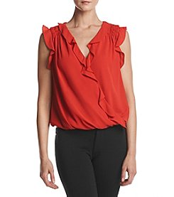 Max Studio Edit™ Ruffled Front Top