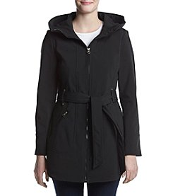 Jessica Simpson Belted Softshell Scuba Jacket