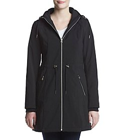 Jessica Simpson Drawstring Waist Hooded Softshell Jacket