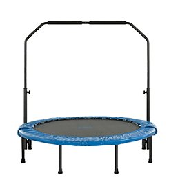Upper Bounce® Mini Foldable Rebounder Fitness Trampoline with Adjustable Handrail