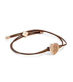 Vera Bradley® Heart Bent Rose Goldtone Slider Bracelet