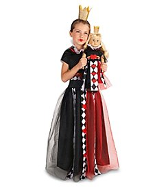 Queen of Hearts Child Medium Costume with Matching 18