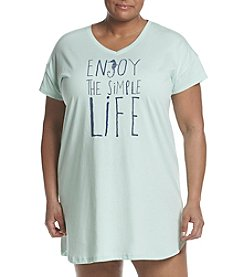 HUE® Plus Size Enjoy Life Sleepshirt