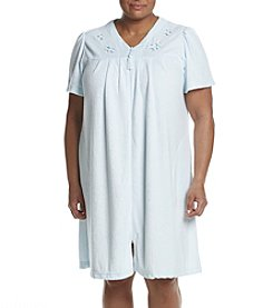 Miss Elaine® Plus Size Zip Robe