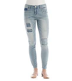 Hippie Laundry Destructed Single Cuff Ankle Jeans