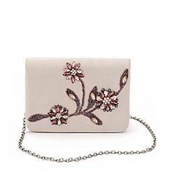 La Regale® Floral Beaded Small Flap Crossbody