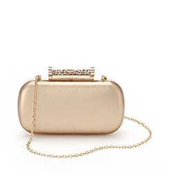La Regale® Metallic Minaudiere Clutch