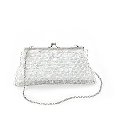 La Regale® Clear Pallettes Frame Clutch