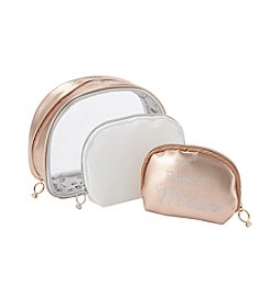 Tricoastal 3-Pack Dome Cosmetic Bags