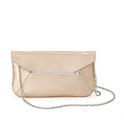 La Regale® Metallic Satin Envelope Clutch