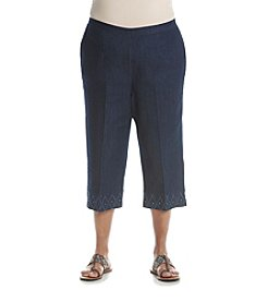 Alfred Dunner® Plus Size Scenic Route Capri Pants