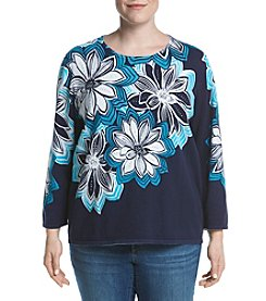 Alfred Dunner® Plus Size Scenic Route Print Sweater