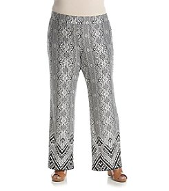 Studio Works® Plus Size Wide Leg Print Pull On Pants