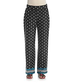 Studio Works® Petites' Dot Print Wide Leg Knit Pants