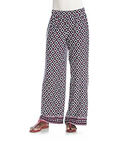 Studio Works® Petites' Geometric Print Wide Leg Knit Pants