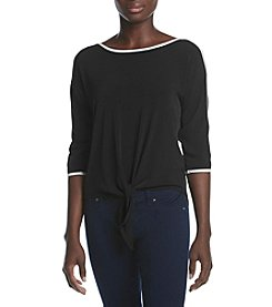 Studio Works® Petites' Knit Top With Tie Front