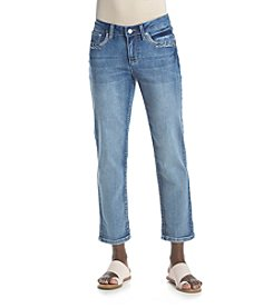 Earl Jean® Petites' Denim Cropped Pants