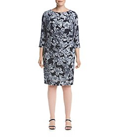Jessica Howard® Plus Size Side Tuck Paisley Dress
