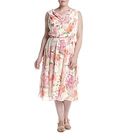 Jessica Howard® Plus Size Floral Fit And Flare Dress