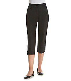 Studio Works® Petites' Solid No Gap Twill Crop Pants