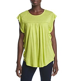 Ruff Hewn Petites' Cascading Sleeve Top
