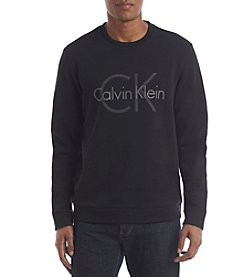 Calvin Klein Men's Long Sleeve Solid Crew Neck Sweater