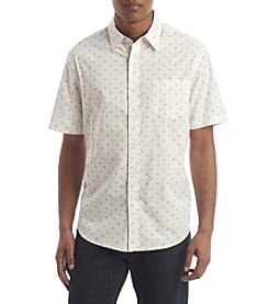 Le Tigre Men's Short Sleeve Printed Woven Button Down