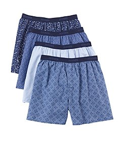 Hanes® Men's Blue Label Woven Printed Boxers
