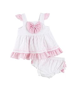 Cuddle Bear® Baby Girls' Eyelet Dress Set