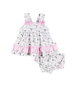 Cuddle Bear® Baby Girls' Hearts Dress Set