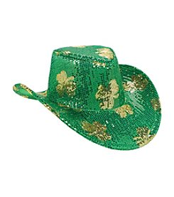St. Patrick's Day Sequin Adult Cowboy Hat