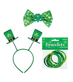 St. Patrick's Day Top Hat Headband, Bow Tie & Bracelets Accessory Bundle