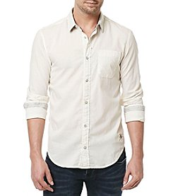 Buffalo by David Bitton Men's Sagus Long Sleeve  Solid Woven Shirt