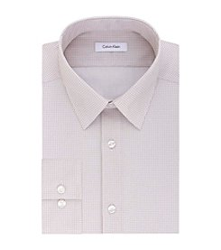 Calvin Klein Men's Long Sleeve Print Slim Fit Dress Shirt