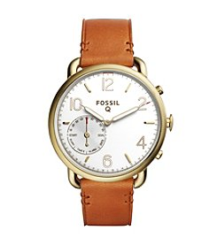 Fossil® Hybrid Smartwatch - Q Tailor Brown Leather