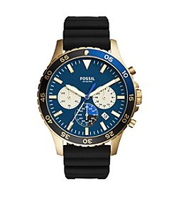 Fossil® Men's 46mm Crewmaster Silicone Sport Chronograph Watch