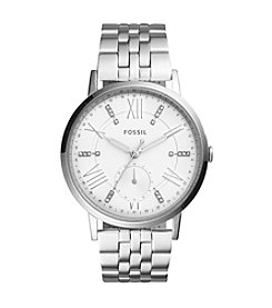 Fossil® Women's 40mm Silvertone Gazer Multifunction Watch