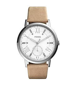 Fossil® Women's 40mm Gazer Multifunction Watch with Leather Strap