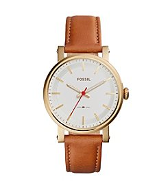 Fossil® Women's 38mm Original Boyfriend Watch with Tan Leather Strap