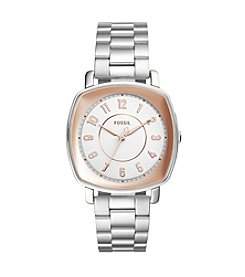 Fossil® Women's 36mm Two-tone Silvertone Idealist Watch