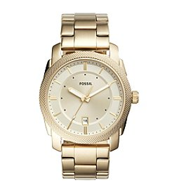 Fossil® Men's 42mm Machine Goldtone Watch