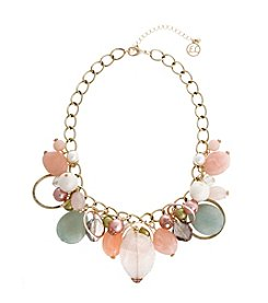 Erica Lyons® Making Me Blush Shaky Front Necklace