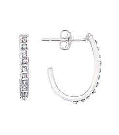Diamond Mystique® Diamond J Hoop Earrings