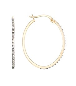Diamond Mystique® Diamond Oval Hoop Earrings