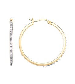 Diamond Mystique® Diamond Round Hoop Earrings