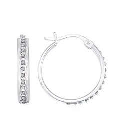 Diamond Mystique® Round Hoop Earrings