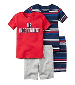 Carter's® Boys' 4-Piece Mr. Independent Pajama Set